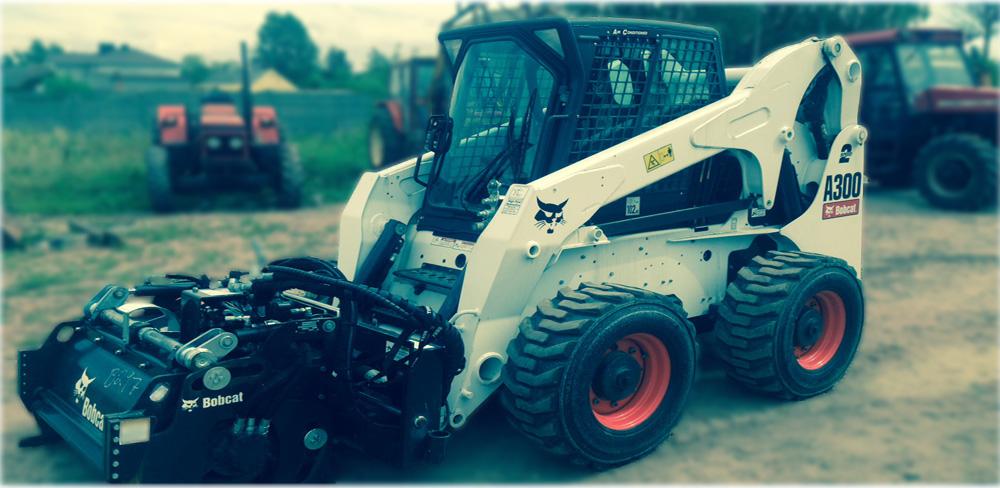 Frezowanie asfaltu tylko maszyną Bobcat A300