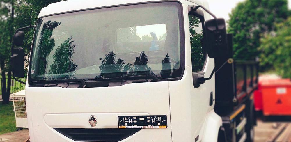 Renault Midlum pojazd specjalny typu hakowiec do kontenerów typu KP – SUK-POL.pl | ŚMIECI | GRUZ | ODPADY | KONTENERY | LUBLIN